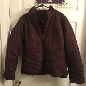 NY&C Burgundy Puffer Jacket